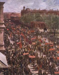И. Бродский. Демонстрация на проспекте 25 Октября. 1934