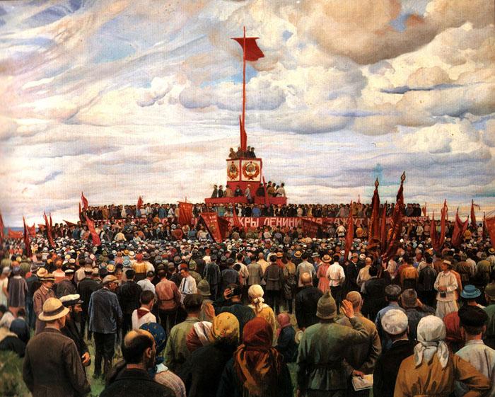 И. Бродский. Праздник Конституции. 1930