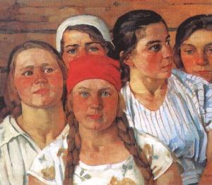 К. Юон. Комсомолки. Подмосковный молодняк. 1926