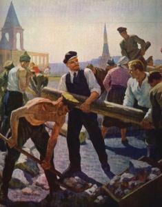 Н. Сысоев. В.И.Ленин на субботнике.