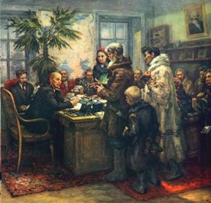 Ф. Модоров. Ходоки у Ленина.