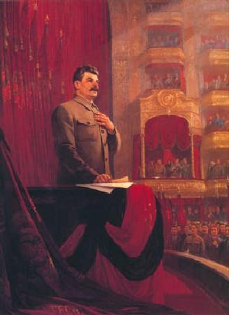Ф. Решетников. Великая клятва. Речь И.В.Сталина на II Всероссийском съезде Советов 26 января 1924 года. 1949