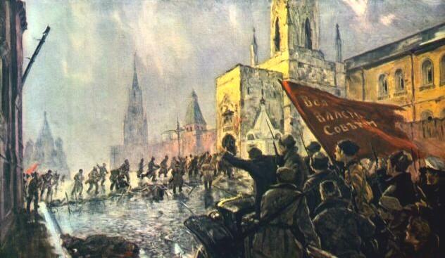 В. Мешков. Вступление Красной Гвардии в Кремль.