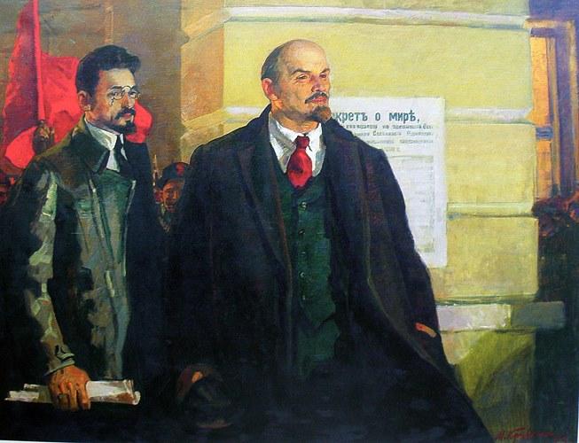 Кривенко М.И. :: Ленин и Яков Свердлов :: 1973 год,