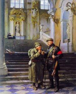 """В. Серов. """"Зимний взят"""" (1954, ГТГ)"""