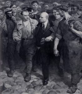 В. А. Серов. С Лениным. 1961 г. Москва, Третьяковская галлерея