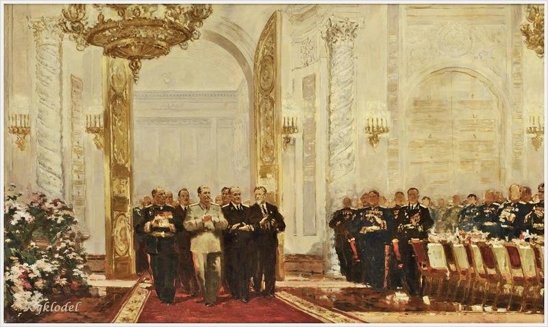 Королев Александр Леонидович (Россия, 1922-1988) «Сталин на Ассамблее» 1948