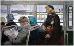 Строев Владимир Фролович (Россия, 1929 - 1992) «Автобус»