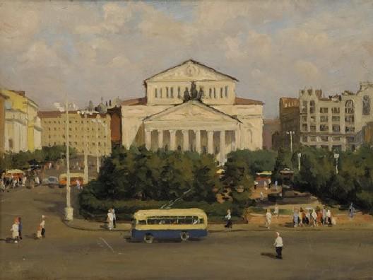Б. Пыриков. Площадь Свердлова. 1954