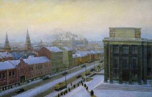 А. Филимонов. Москва. Зимнее утро. 1948