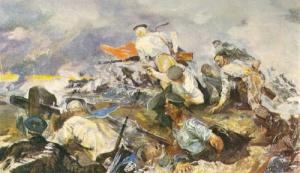 """А. Бантиков """"Балтийцы на защите Ленинграда"""". 1944 г."""