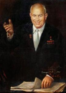 Худ. Д.Налбандян. Портрет Н. Хрущева.