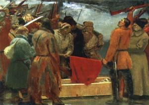 С. Герасимов. Клятва сибирских партизан. 1933