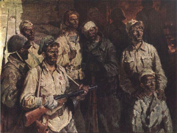 Худ. Н. Бут. Солдаты подземного гарнизона.
