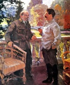 Сварог Василий Семёнович (1883-1946) «В. И. Ленин и И. В. Сталин в Горках в 1923 году». 1938
