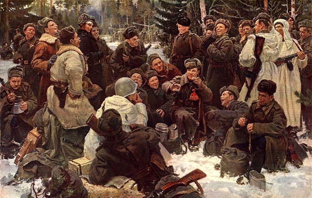 Отдых после боя. Ю.М. Непринцев. 1951