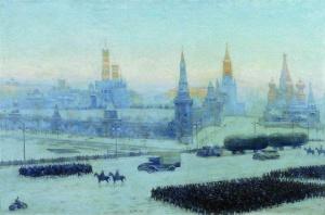 К. Юон. Утро Москвы. 1942.