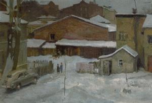 Г. Коржев. Московский дворик. 1954
