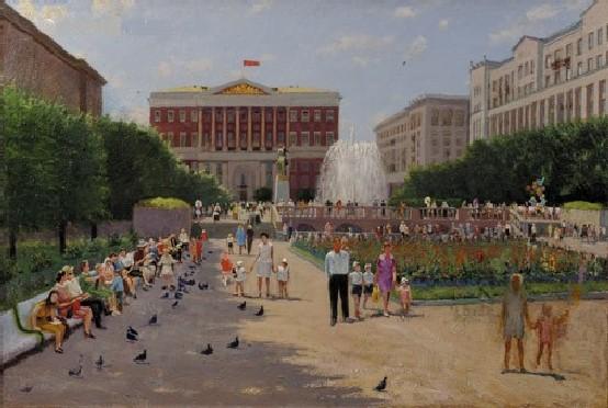 К. Николаев. Москва. Советская площадь. 1960