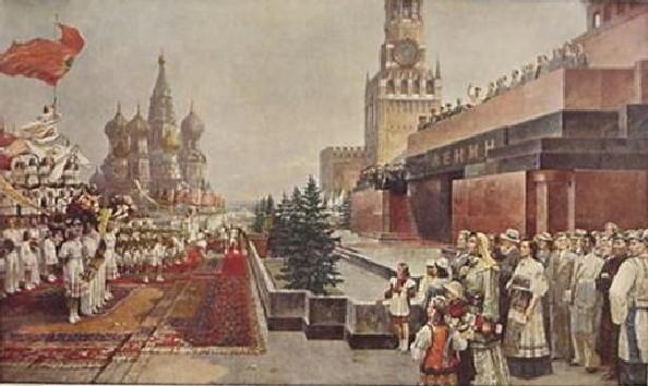 И. Давидович, Е. Тиханович. Первомайская демонстрация