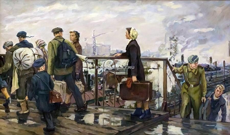 Чорбадзе-Толмасова Лариса Георгиевна (Россия, 1931) «Москва. В новую жизнь»