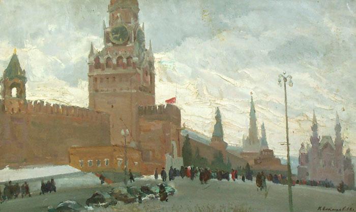 Н. Елтышев. Красная площадь. 1958
