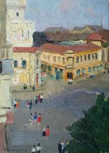 П. Крохоняткин. Центр города. 1949