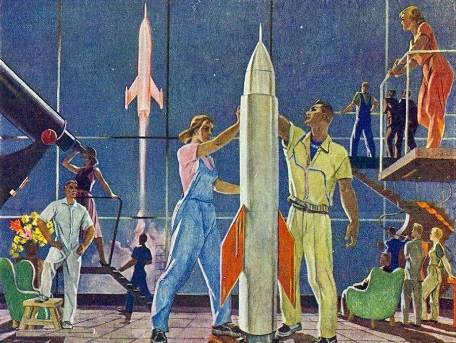 Александр Дейнека «Покорители космоса» 1961