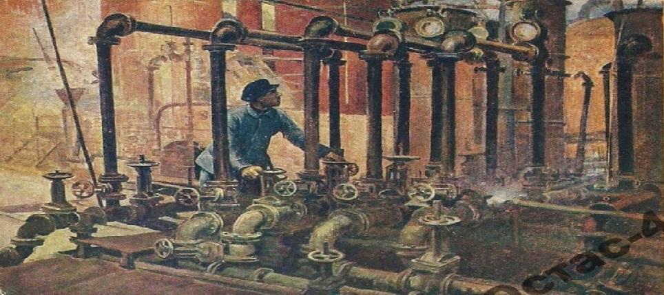 """Ф.А.Модоров. """"Баку. Новый нефтеперегонный завод"""""""