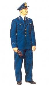 Старший политрук ВВС Красной армии. 1942 г. Униформа ВВС РККА во Второй мировой
