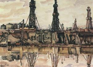Богаевский Баку. Нефтевышки. 1931.