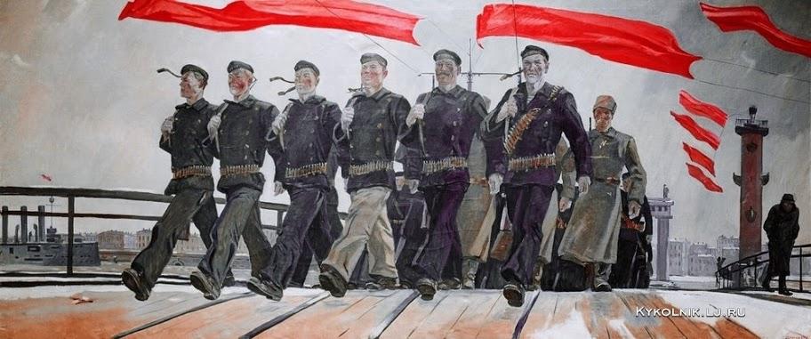 Дейнека Александр Александрович (Россия, 1899 - 1969) «Левый марш» 1941