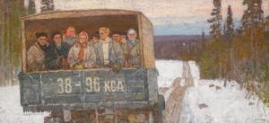 Галахов Николай Николаевич (Россия, 1928) «На лесозаготовку»