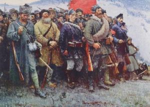 Герасимов Сергей Васильевич (Россия, 1885-1964) «За власть Советов!» 1957