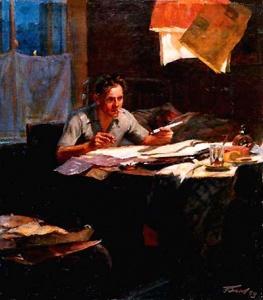 Ю. Белов. Рабочий-новатор. 1954
