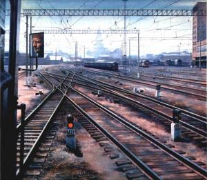 А. Петров. Москва. Казанский вокзал. 1981