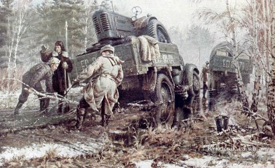 Мухин Петр Степанович (Россия, 1919-1996) «На новые земли»