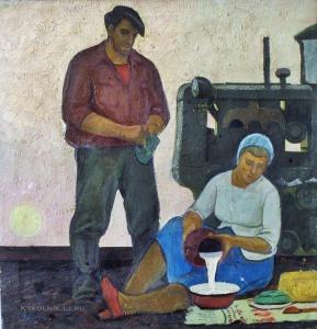 Непьянов Виктор Васильевич (1929-1998) «В поле» 1963