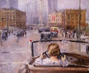 Юрий Пименов. «Новая Москва» 1937г. Москва, Третьяковская галлерея