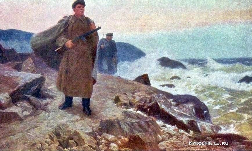 Самсонов Марат Иванович (Россия, 1925-2013) «На родных рубежах»
