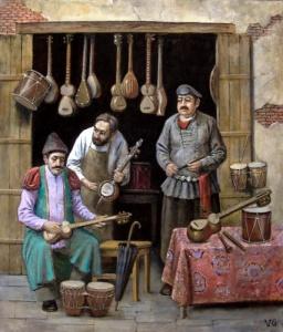Лавка музыкальных инструментов в Тифлисе