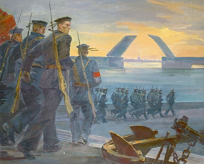 Усыпенко Юрий Федорович (Россия, 1946) «Петроград 1917 год» 1973