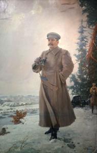 """""""И.В. Сталин на передовой"""", 1944 год. Худ. А. Герасимов"""