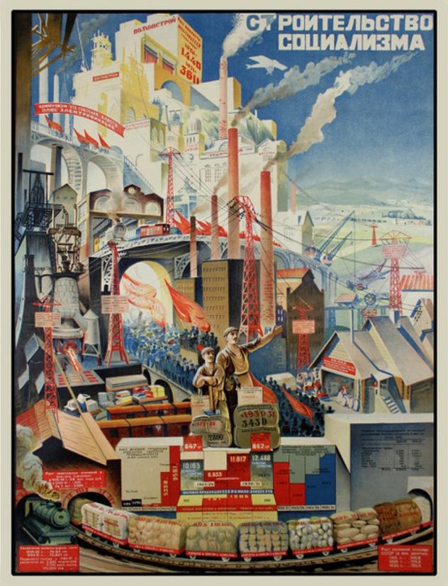"""Н. Г. Котов, """"Строительство социализма"""" 1927 г. (РГБ)"""