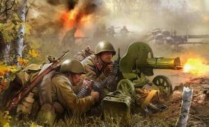 Советские пулеметчики (Иван Хивренко)