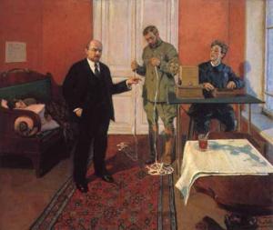 И. Грабарь. В.И.Ленин у прямого провода. 1933