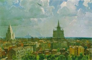 А. Дейнека. Москва. 1952