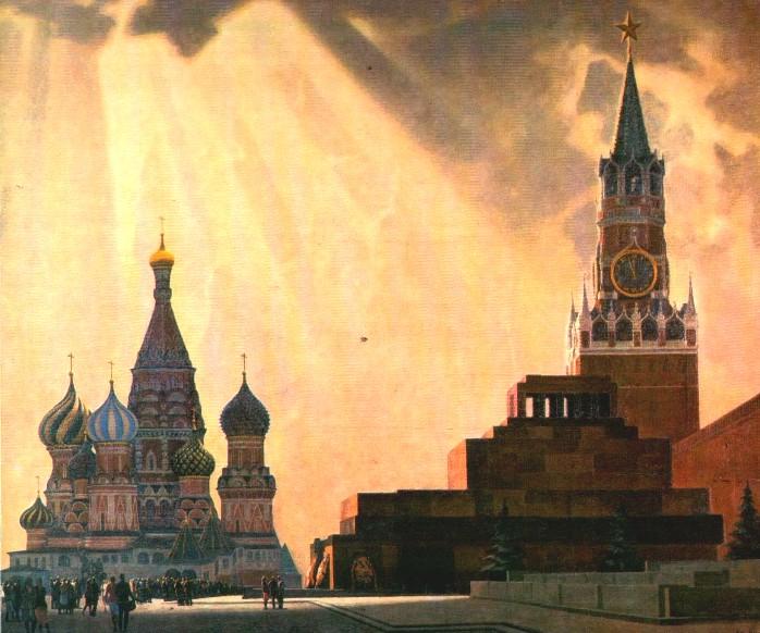 П. Оссовский. Москва. Красная площадь. Мавзолей В.И.Ленина. 1980
