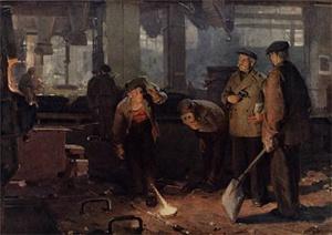 Е. Данилевский. Проба стали. 1952