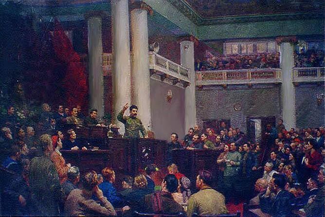 Б. Иогансон. И.В.Сталин в Таврическом дворце. 1953